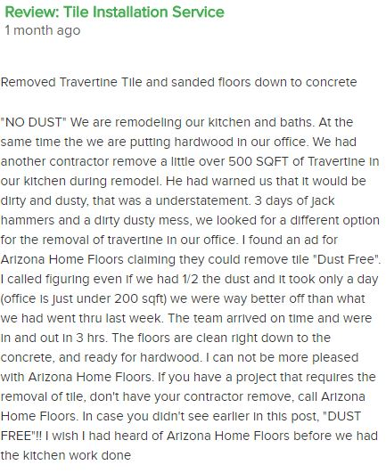 arizona home floors floor removal review angies list
