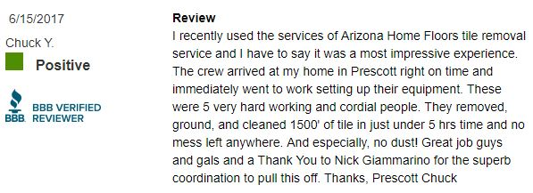 tile removal review from bbb for arizona home floors