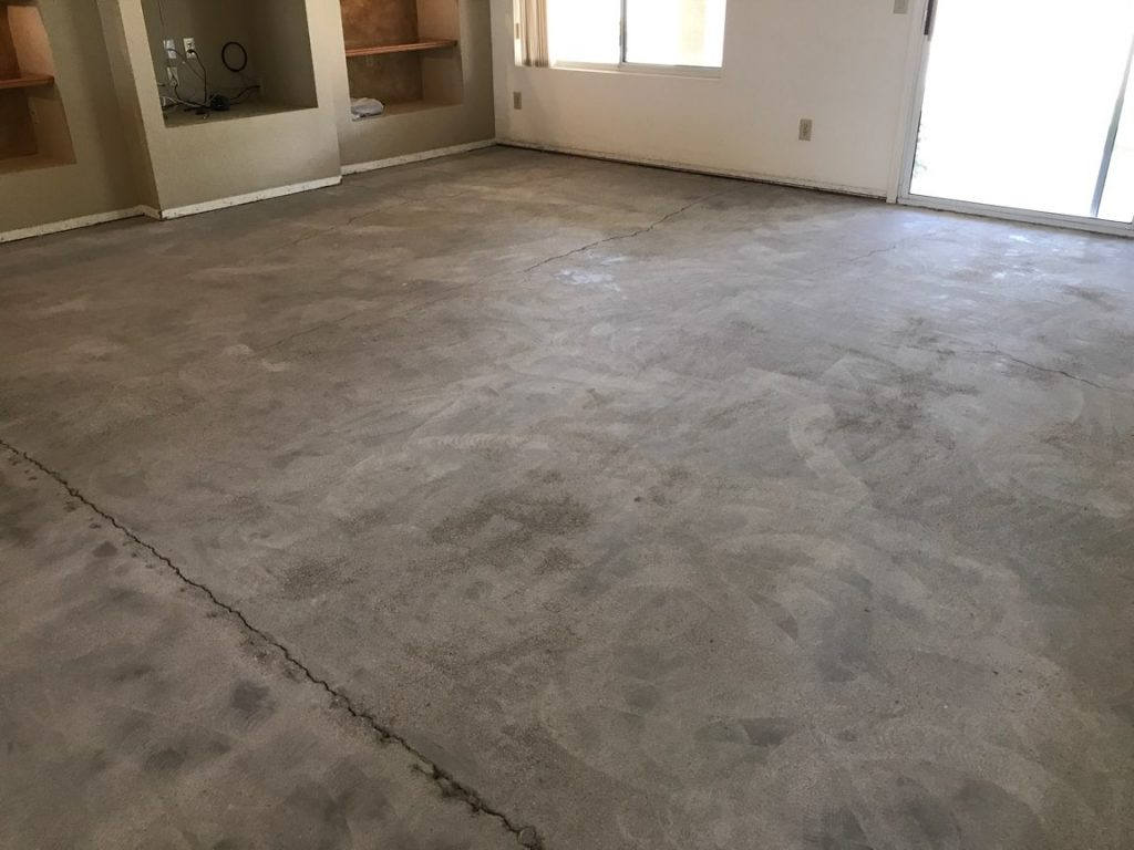 after carpet removed