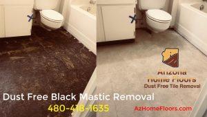 black mastic removal